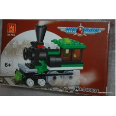 Конструктор Железная дорога, зеленый, 68 деталей