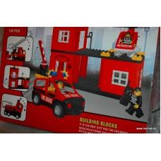 Конструктор Пожарная машина, 138 больших деталей