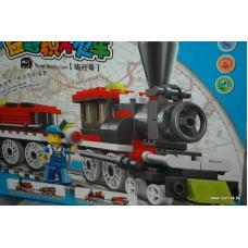 Конструктор Железная дорога, 136 больших детали